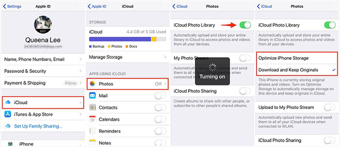 transfer movies from iphone to ipad with icloud