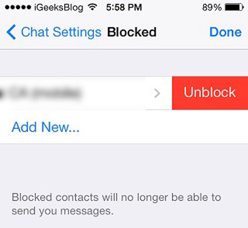 how to unblock contacts on iphone how to block amp unblock whatsapp contacts on iphone 1694
