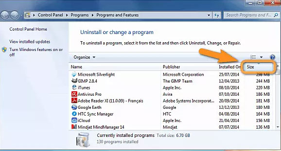 free up space for pc by removing useless programs