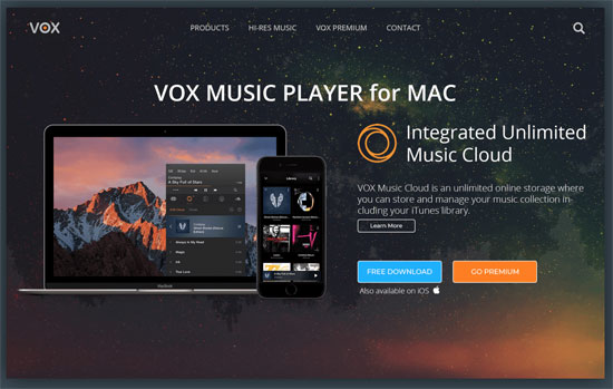 alternative to itunes for mac like vox music player