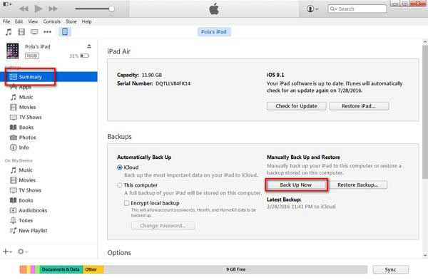 how to fix a disabled ipad with itunes