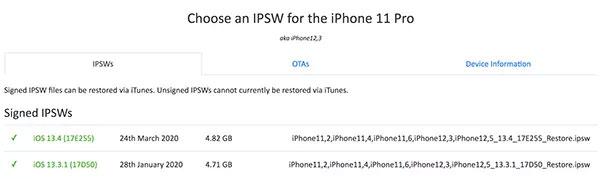 download ipsw files for iphone