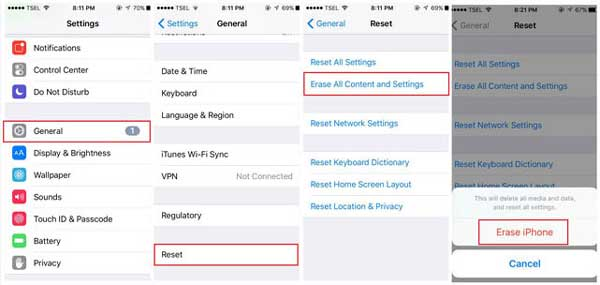 factory reset iphone to remove iphone backup password