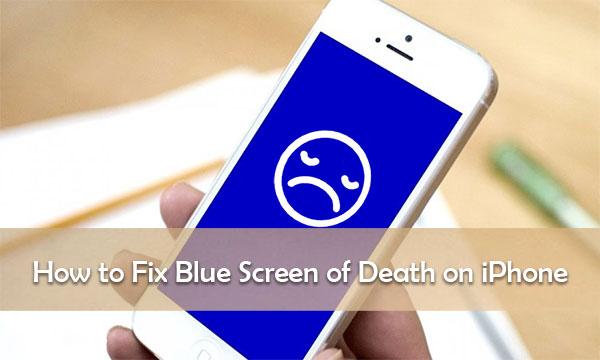 iphone blue screen fix