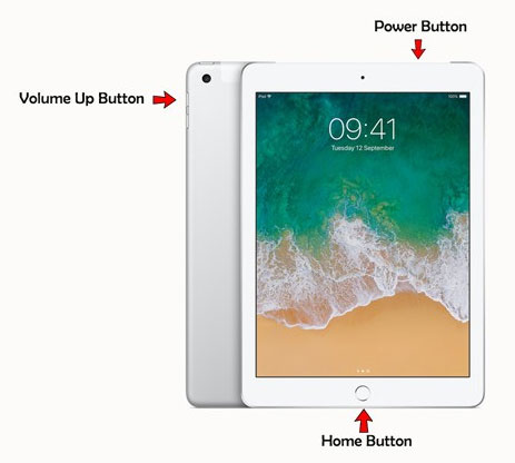 use 3 key combination to fix ipad white screen of death