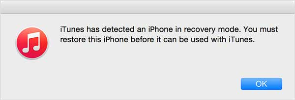 itunes detects iphone