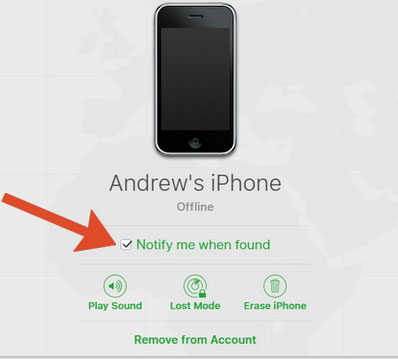 locate lost or stolen iphone
