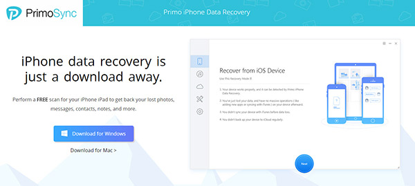 iphone data recovery tool as primo