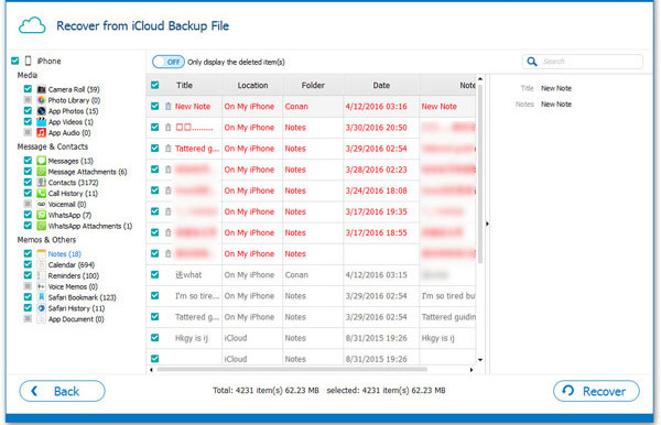 access and extract notes from icloud backup