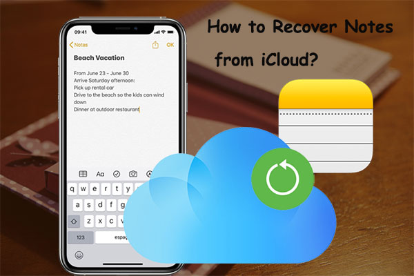 how to recover notes from icloud