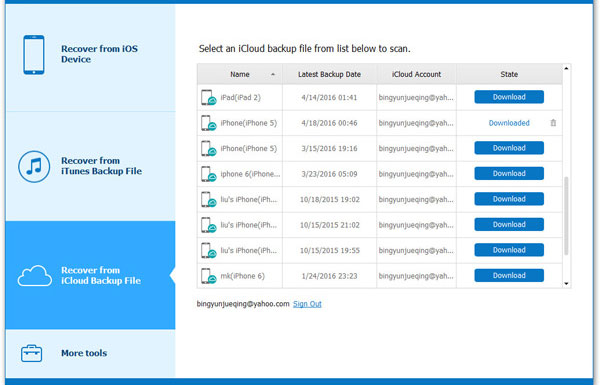 download icloud backups to pc