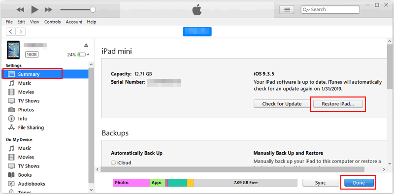 how to hack ipad passcode without restoring using itunes