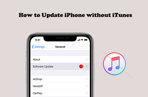 how to update iphone without itunes