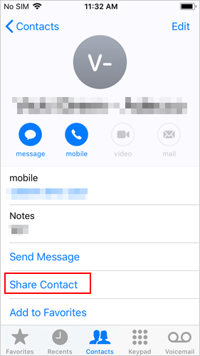 transfer contacts to new iphone without icloud using airdrop - 1