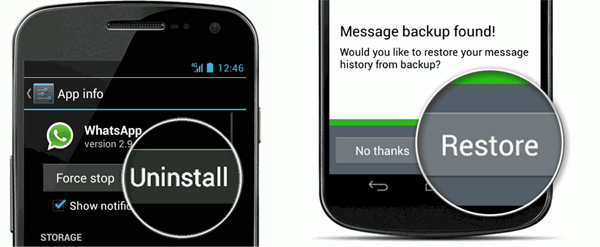 restore whatsapp backup on android