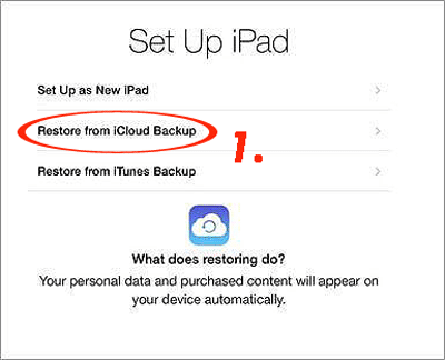restore icloud backup data to new iphone
