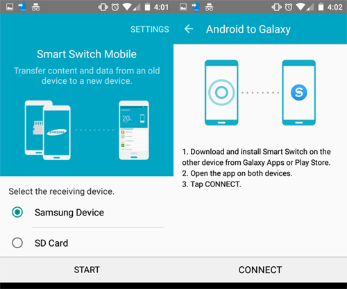 how to migrate data from motorola to samsung with smart switch