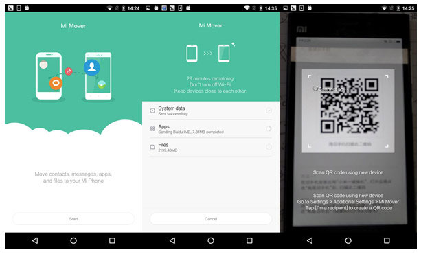 how to transfer data from iphone to xiaomi with mi mover