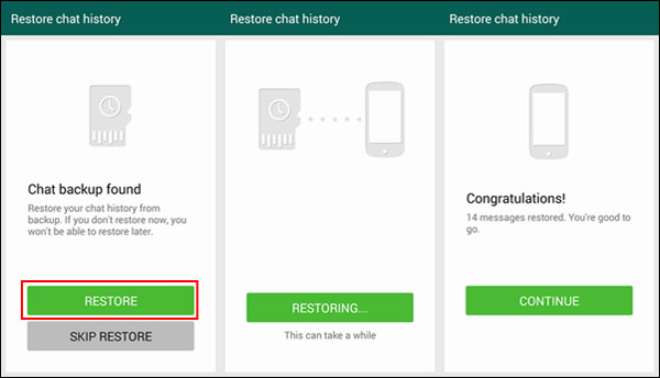 How to restore whatsapp chats from gmail