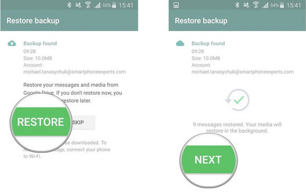transfer whatsapp messages to new phone