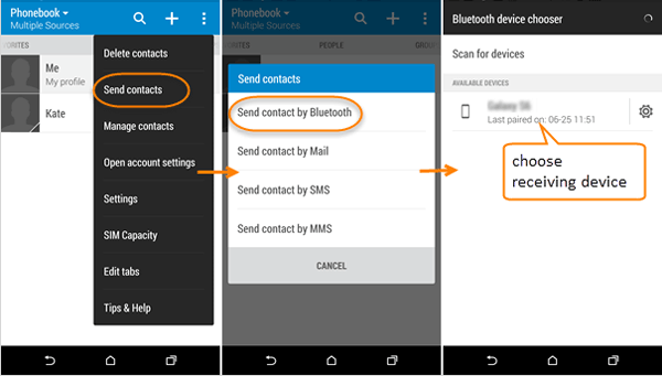 transfer contacts from zte to computer via bluetooth