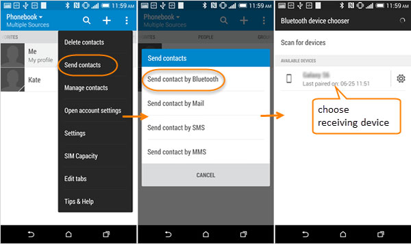 send htc contacts to samsung