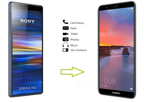 how to transfer data from sony to huawei