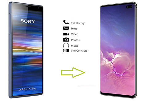 transfer data from sony to samsung