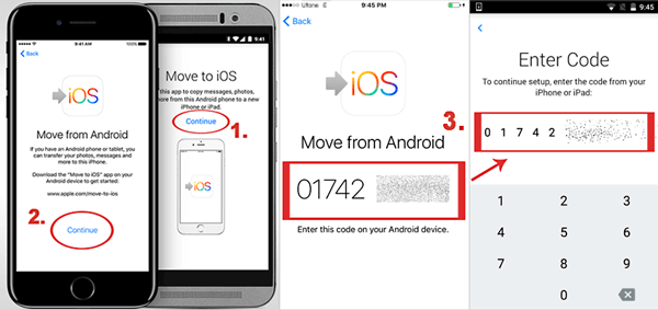 how to transfer from android to iphone