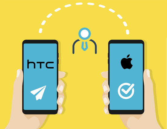 transfer contacts from htc to iphone