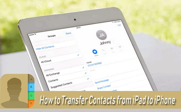 how to transfer contacts from iphone to ipad