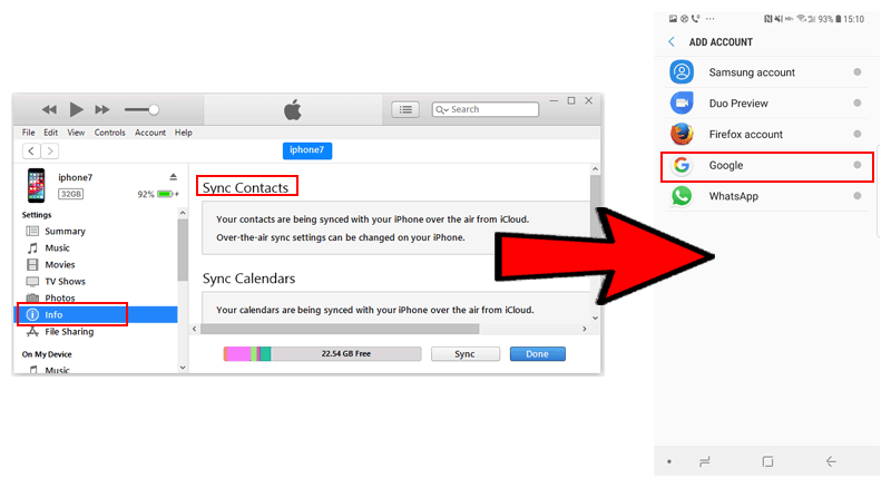 How to Get Contacts from iPhone to Android via iTunes