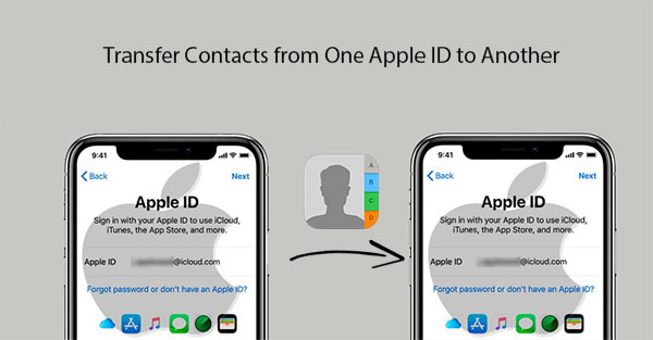 how to transfer contacts from one apple id to another