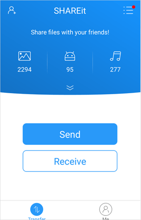 send music from iphone to android via shareit app