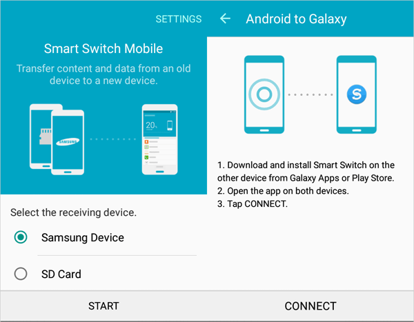 how to transfer data from old to new samsung with smart switch