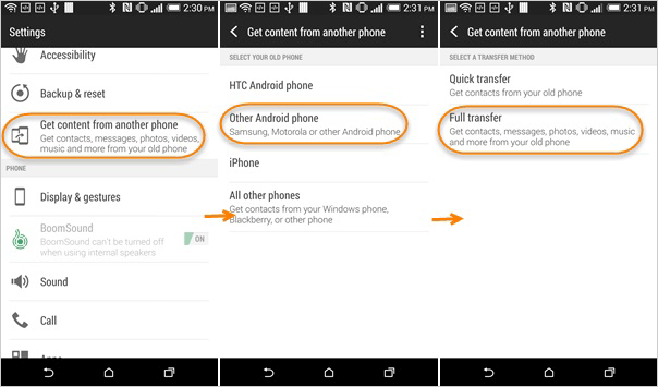 Transfer Files to HTC via HTC Transfer Tool
