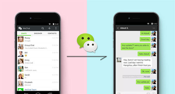 transfer wechat history to new phone