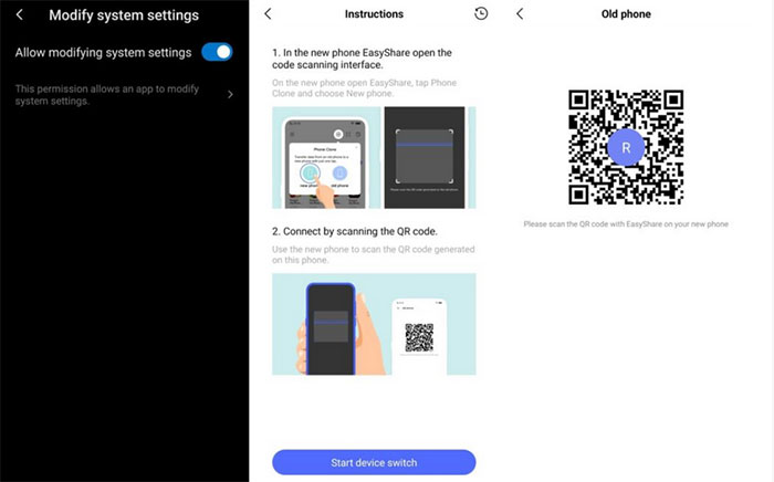 connect iphone and vivo via easyshare