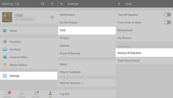 how to back up wechat to new phone via chat log migration feature