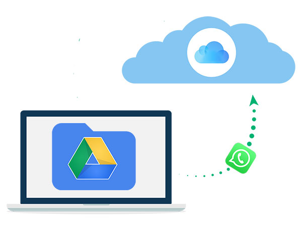 transfer whatsapp backup from google drive to icloud