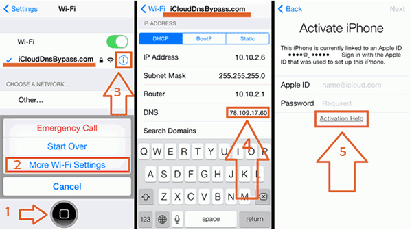 get rid of icloud activation lock without password via dns