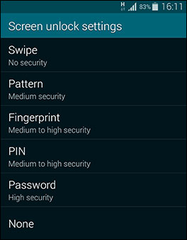 how to unlock samsung galaxy s5 using backup pin