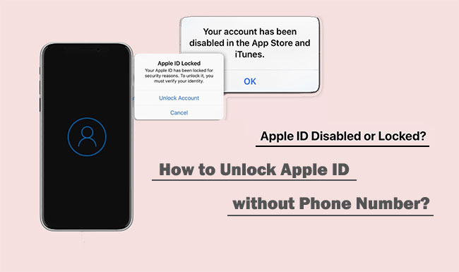 unlock apple id without phone number