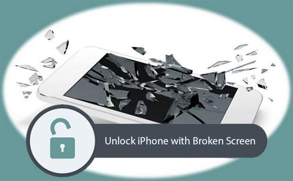 unlock iphone with broken screen