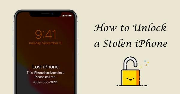 how to unlock a stolen iphone