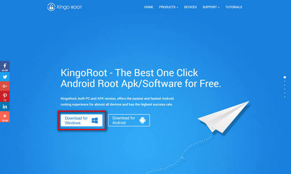 download kingoroot on your pc