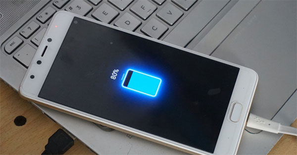 ensure your android have more than 50% charge