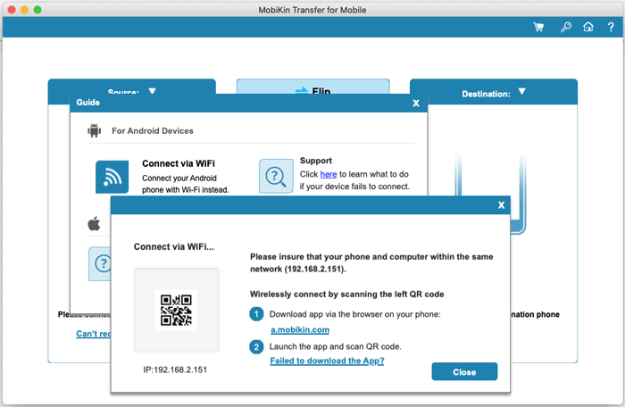 scan the qr code to connect your devices wirelessly