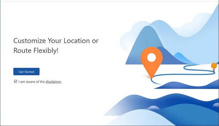 run virual location tool on computer