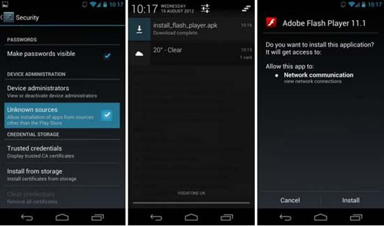 Tips To Download Adobe Flash Player On Android Device